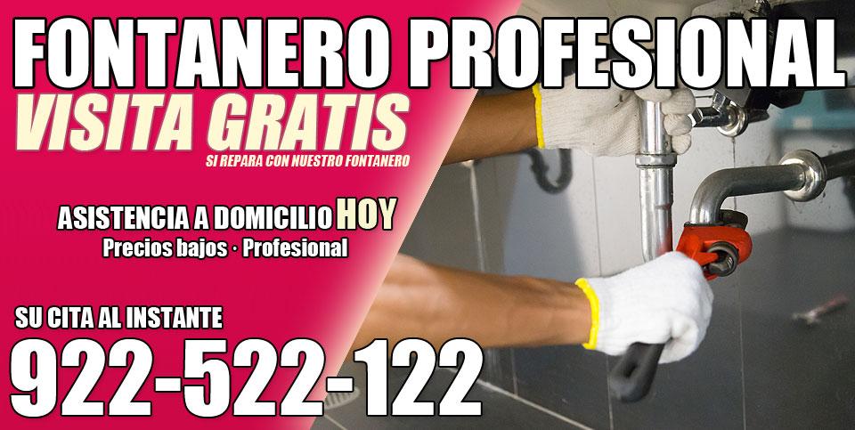 Fontanero profesional en Arafo llame al 922522122